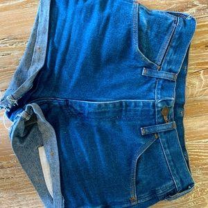 Denim wrangler shorts!